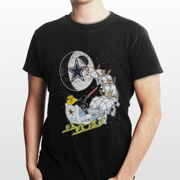 Christmas Darth Vader Santa's Sleigh Dallas Cowboy Star Wars shirt