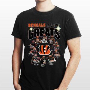 Cincinnati Bengals all time great players signatures shirt