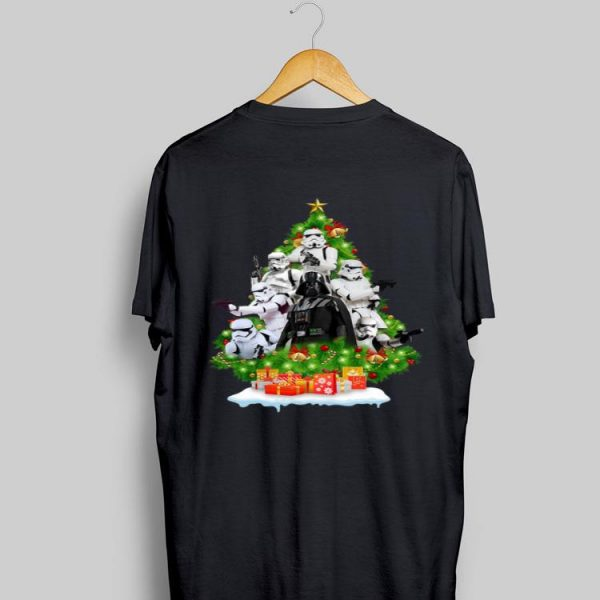 Darth vader and Stormtrooper Christmas Tree shirt