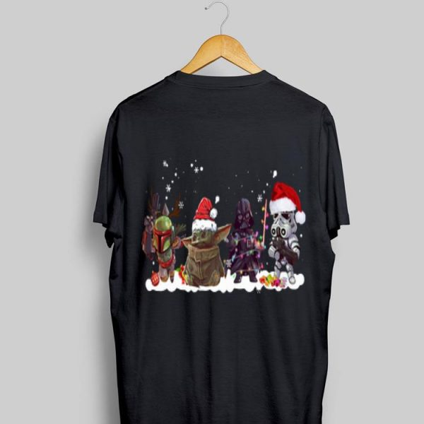 Death Star Darth Vader Stormtrooper Chibi And Baby Yoda Christmas sweater