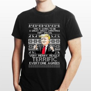 Donal Trump Very Merry Really Terrific Everyone Agrees Ugly Christmas sweater