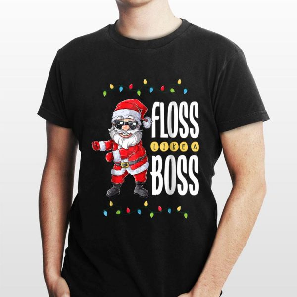 Floss Like A Boss Flossing Santa Claus shirt