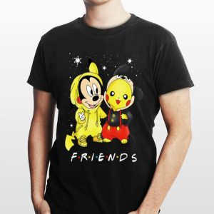 Friends Baby Mickey Mouse And Pikachu Christmas shirt