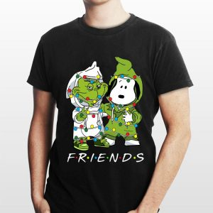 Friends Grinch and Snoopy light christmas shirt