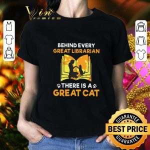 Hot Behind every great librarian there is a great cat paws shirt