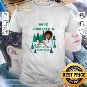 Hot Bob Ross Have yourself a happy little Christmas signature shirt