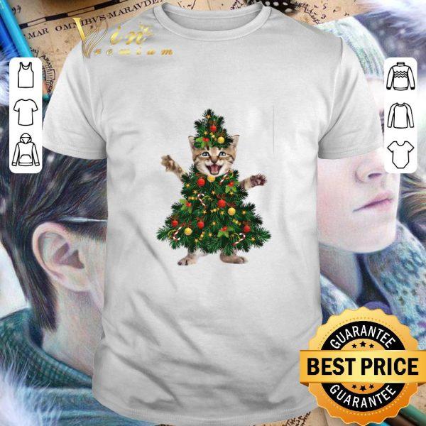 Hot Cat pine Christmas tree shirt