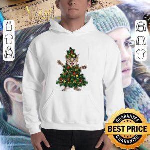 Hot Cat pine Christmas tree shirt 2