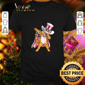 Hot Patriot cat dabbing 4th July independence day American flag shirt