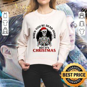 Hot Skeleton santa when you're dead inside but it's Christmas shirt