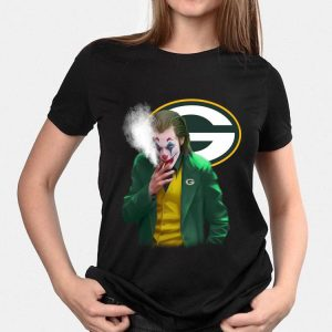 Joker Smoking Green Bay Packers shirt