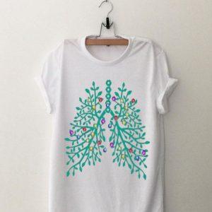 Lung tree Christmas lights Christmas shirt