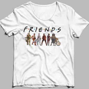 Friends Star Wars characters shirt