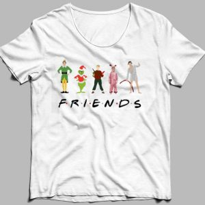 Elf Grinch Kevin Friends Characters Christmas shirt