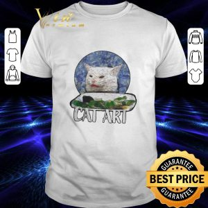 Original Angry Yelling At Confused Cat At Dinner Table Meme 2020 shirt