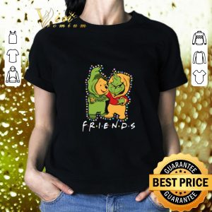 Original Friends Grinch and Pooh Christmas light shirt