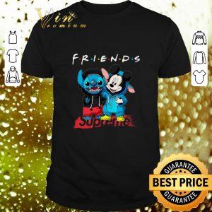 Original Friends Stitch and Mickey Supreme shirt