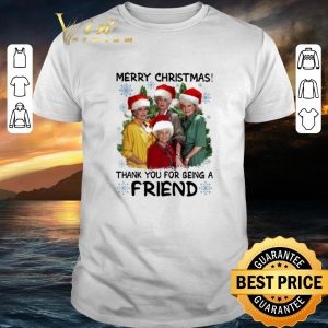 Original Golden girl Merry Christmas thank you for being a friend shirt