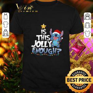 Original Stitch Santa is this Jolly enough Christmas lights shirt