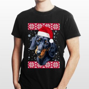 Santa Dachshund Ugly Christmas sweater