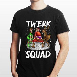 Santa Elf Twerking Twerk Squad Christmas shirt