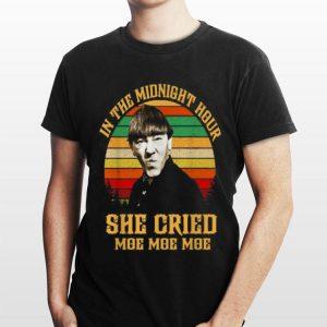 Three Stooges in the midnight hour she cried moe moe moe vintage shirt