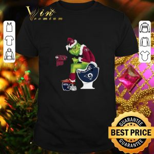 Top 49ers Grinch Santa Cardinals LA Rams Toilet Seattle Seahawks shirt