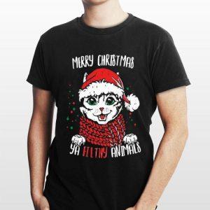 Ya filthy animal Santa Cat Merry christmas sweater