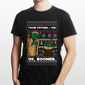 Your Father I Am Ok Boomer Baby Yoda Ugly Christmas sweater