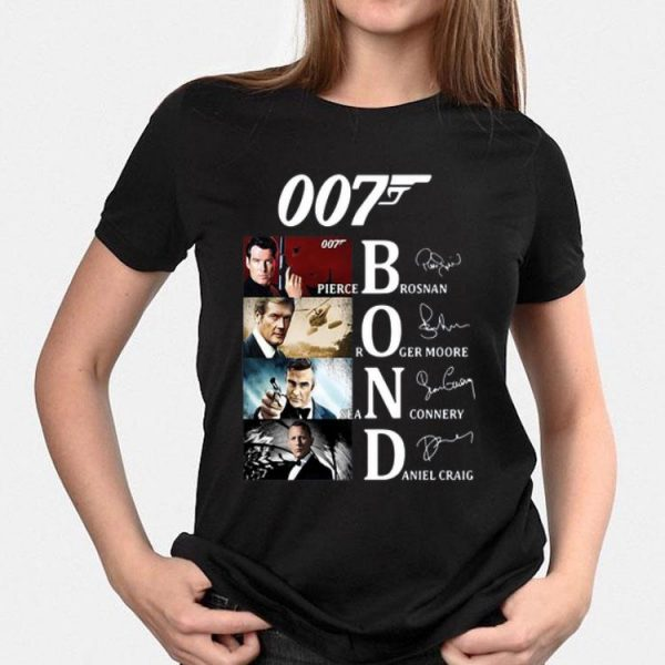 007 Pierce Brosnan Roger Moore Sean Connery Daniel Craig Signatures sweater