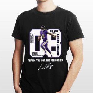 08 Lamar Jackson Thank You For The Memories shirt