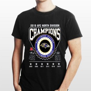 2019 AFC North Division Champions Baltimore Ravens shirt