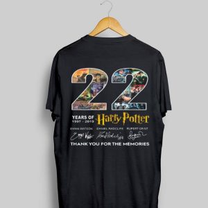 22 Years Of 1977-2019 Harry Potter Thank You For The Memories Signatures sweater