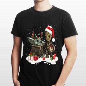 Baby Yoda And Baby Groot Christmas sweater