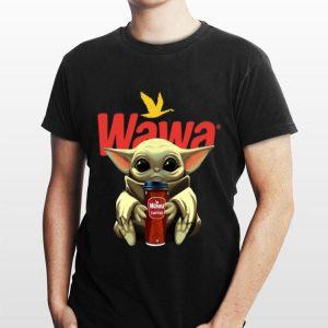 Baby Yoda Hug Wawa Coffee shirt