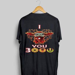 Baby Yoda Iron Man I Love You 3000 shirt