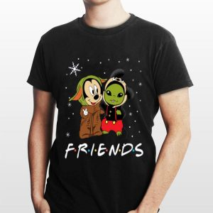 Baby Yoda and Mickey Mouse Friends snow christmas sweater