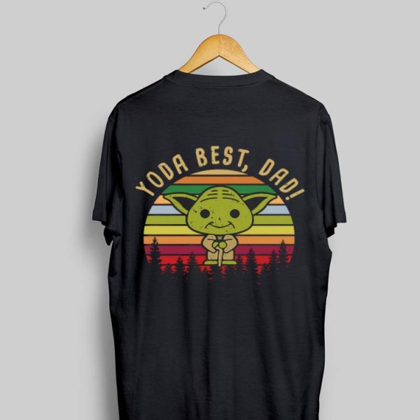 Baby Yoda best dad vintage sunset sweater