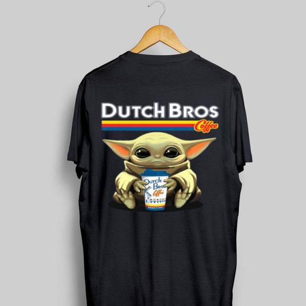 Baby Yoda hug Dutch Bros Coffee shirt