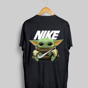 Baby Yoda hug Nike shirt