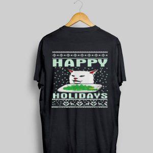 Cat happy Holidays sweater