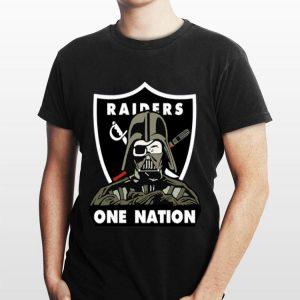 Darth Vader Oakland Raiders One Nation shirt