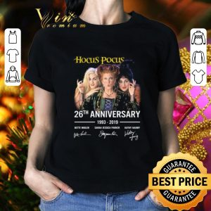 Hot Hocus Pocus 26th anniversary 1993-2019 signatures shirt