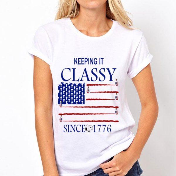 Keeping It Classy Sanoopy American Flag Since 1776 shirt