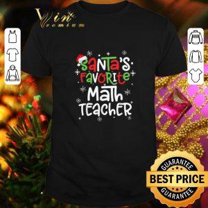 Official Santa's favorite math teacher Christmas shirt