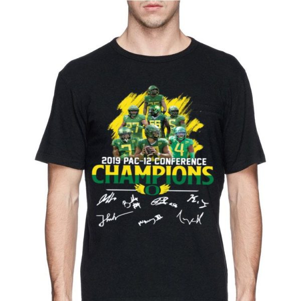 Oregon Ducks 2019 pac 12 conference champions players signatures shirt