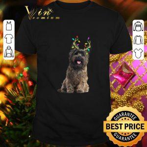 Original Cairn Terrier Reindeer Christmas Light shirt