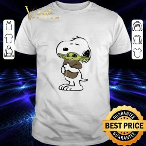 Original Snoopy hugging Baby Yoda Star Wars shirt