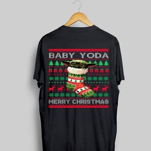 Socks Baby Yoda Merry Christmas Ugly Christmas sweater