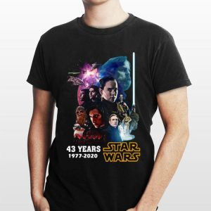 Star Wars Characters 43 Years 1977 2020 Signatures shirt